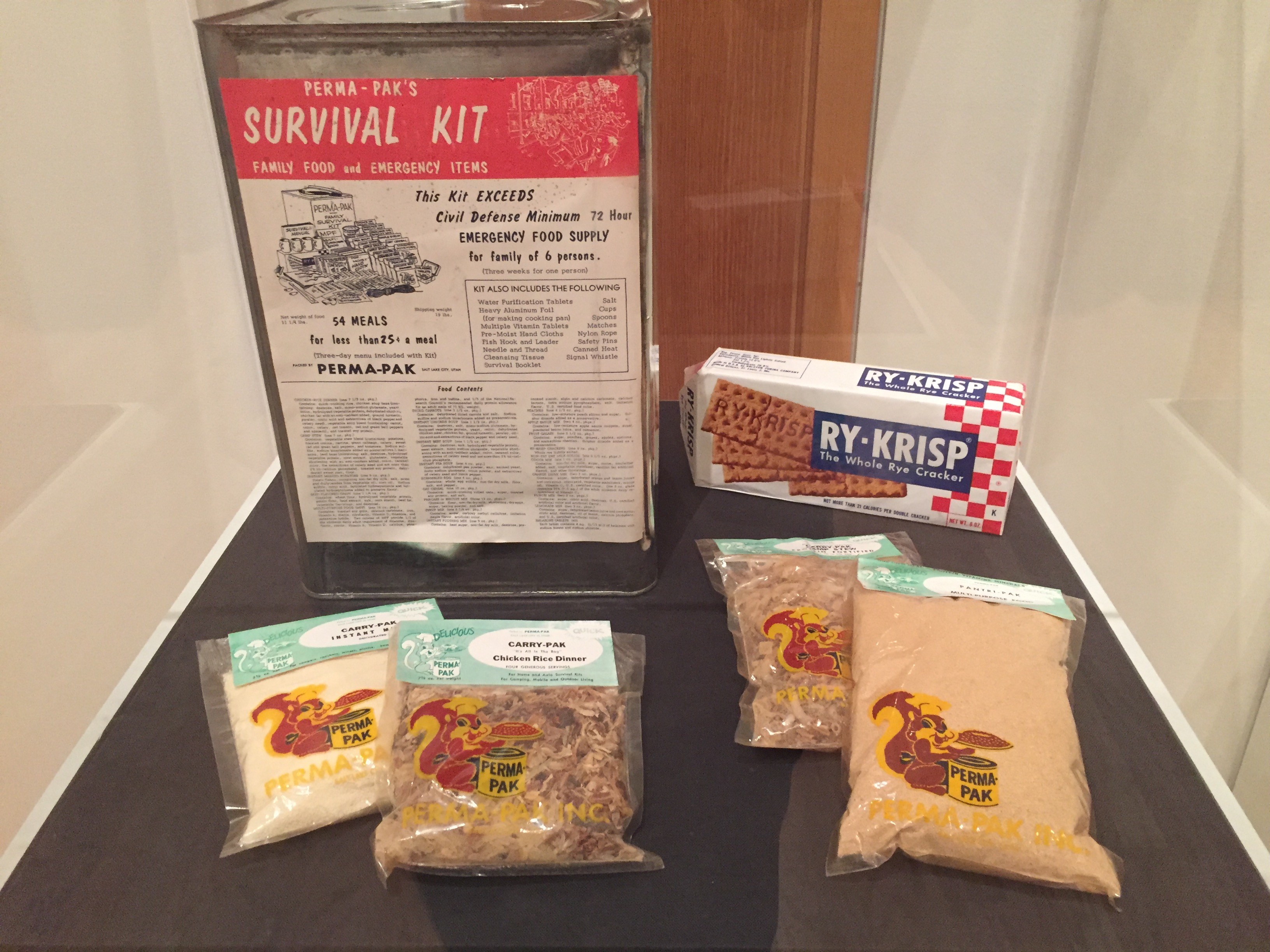 1950's Emergency Preparedness Kit